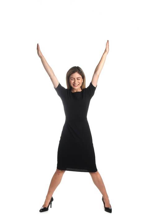 verry happy woman